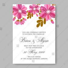 wedding invitation sle floral pink anemone wedding invitation anemone wedding