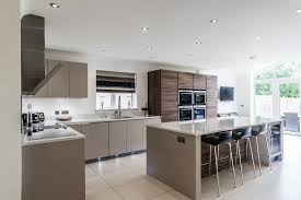 White Gloss Kitchen Ideas Gloss Cashmere U0026 Grey Acacia Units Siemens Appliances U0026 Crystal