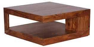 Wohnzimmertisch Unikat Wohnling Couchtisch Massiv Holz Sheesham 90 Cm Breit Wohnzimmer