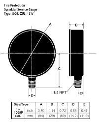 ashcroft 1005p fire sprinkler pressure gauge 35 1005ph 02l xul 100