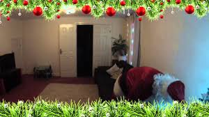 santa caught on camera when he came to our house with elves and
