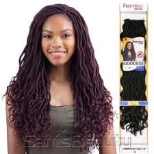crochet hair freetress synthetic hair crochet braids goddess loc 18 samsbeauty