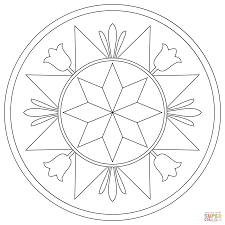 pennsylvania hex sign with compass rose coloring page free
