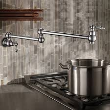 Kitchen Pot Filler Faucet Wall Mounted Brass Single Cold Pot Filler Faucet Tap Joint