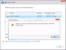 cannot format gpt drive the selected disk is of the gpt partition style it services and
