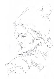 a quick sketch portrait as drawn by a stranger on metro u2014 the