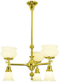 Gas Chandelier Albany Gas Electric Chandelier With 6 Lights House Of Antique