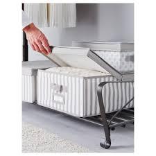 svira box with lid grey white stripe 39x48x19 cm ikea
