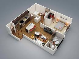 20 one bedroom apartment plans for singles and couples home