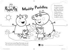 peppa pig muddy puddles colouring scholastic kids u0027 club