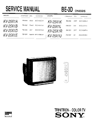 sony kv 25x1b chassis be 3d service manual download schematics