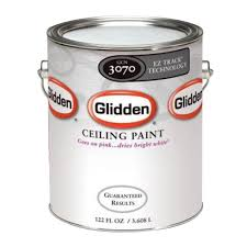 glidden 1 gal bright white interior flat ez track ceiling paint