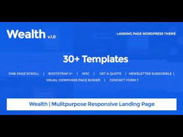 wealth u2013 multi purpose landing page wordpress theme themeforest
