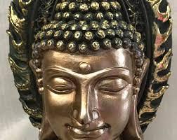 Decorative Buddha Head Buddha Head Statue Etsy