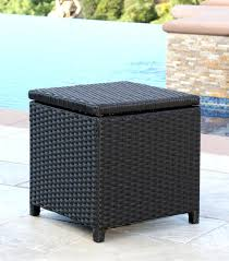 wicker ottoman outdoor patio rattan round coffee table 25683