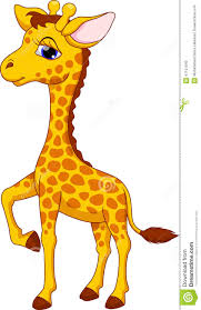 cute animated giraffe