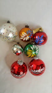 antique 1930 40s glass christmas tree bulb ornaments set of seven