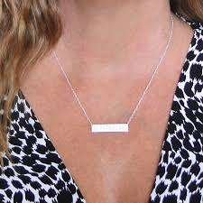 sterling silver nameplate necklace sterling silver nameplate necklace as seen on can