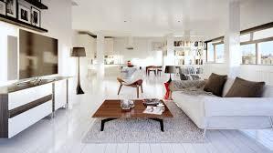 loft interior design wondrous white three lofts with clean bright interiors