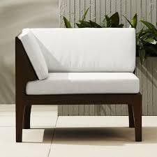 Modern Outdoor Loveseat Elba Outdoor Corner Chair Cb2