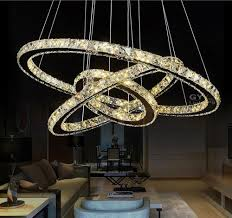 Chandelier Led Lights Ac100 240v Remote Control Lustre Amber Crystal Chandelier Led