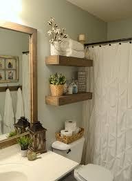 Floating Cabinets Bathroom Rustic Wood Floating Shelves