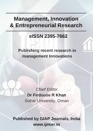 Double Blind Research International Journal Of Management Innovation U0026 Entrepreneurial