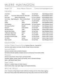 Musical Theater Resume Cv Resume Pronunciation In Free Resume Templates Functional Format