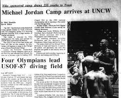 michael jordan biography resume articles about michael jordan from the university archives this