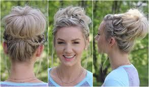 hairstyles for teachers waterfall bun updo cute girls hairstyles