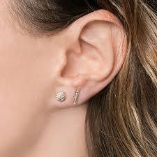 gold bar stud earrings sylvie diamond bar earrings yellow gold