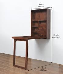 Nilkamal Kitchen Furniture Valindor Wall Mount Study Table Home Nilkamal Brown Buy
