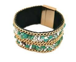 bracelet magnetic wristband images Stone wrap bracelet magnetic wrap bracelets green jewellery jpg