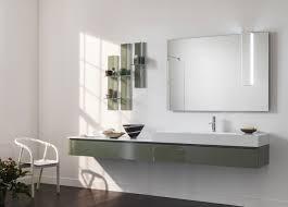 Badezimmerspiegel Mit Ablage Hängend Waschtischunterschrank Laminat Modern Mit Spiegel