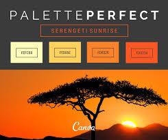 canva color palette ideas serenget sunrise colour palette by canva kleure mood borde