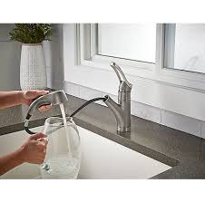 slate prive 1 handle pull out kitchen faucet f 534 7pvsl