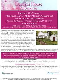 salute to the troops bucks county designer house u0026 gardens