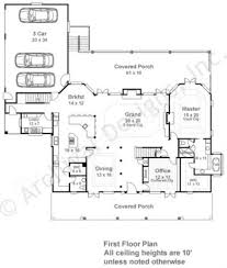 Colonial House Plan by Deerfield Southern Floor Plans Luxury House Plans