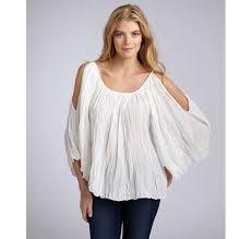 shoulder cut out blouse lyst sam ecru cotton gauze cutout shoulder peasant blouse