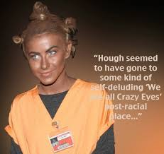 Oitnb Halloween Costumes Irony U0027orange Black U0027 Blackface