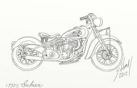 coloring page attractive drawing motorcycles tutorial bike