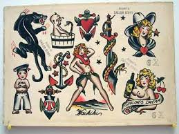 vintage tattoo flash sailor jerry collins flash for sale cowgirl