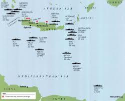 Crete Map Asisbiz Major Battles Of World War Ii Balkans Campaign A Map Of