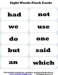 sight words flash cards printable flashcards