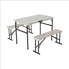 Lifetime Folding Picnic Table Lifetime Folding Picnic Table With Benches