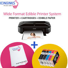edible printing system icinginks wide format edible printer system canon pixma