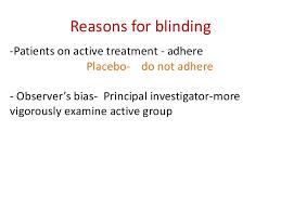 Define Single Blind Experiment Clinical Trial Design