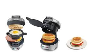 Toaster Sandwich Maker Hamilton Beach Electric Breakfast Sandwich Maker Groupon