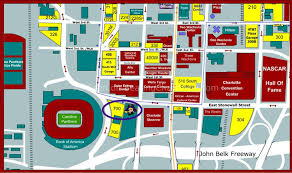 Virginia Tech Parking Map by Bank Of America Stadium Charlotte Nc Seating Chart View