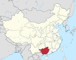 China Physical Map by Guangxi Wikipedia